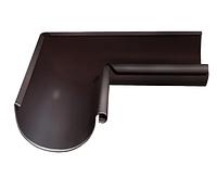 Угол желоба внутренний 90 гр Ø125 мм 0,5 штампованный RAL 8017 Коричневый