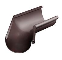 Угол желоба внутренний 135 гр Ø125 мм 0,5 RAL 8017 Коричневый