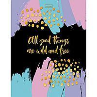 Бизнес блокнот 80л А5 Хатбер-М All good things are wild and free