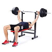 Силовая скамья для жима со стойками - грузоподъемность: 149,6 кг