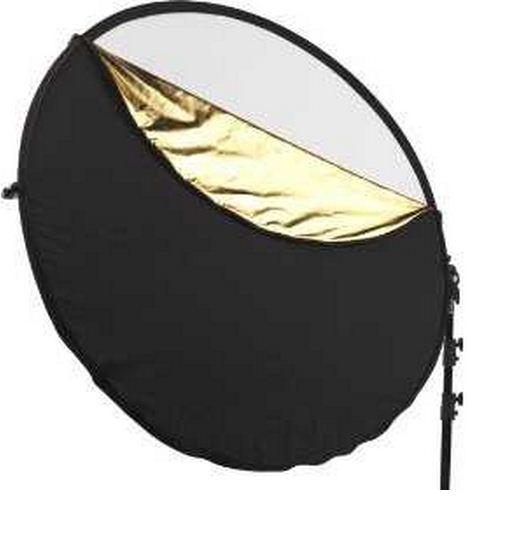 Отражатель (лайт - диск) 80 см 5 в 1 - золото, серебро, белый, чёрный, рассеиватель
