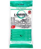 Антибактериальные чистящие салфетки Lamirel для экранов всех типов  24 шт  еврослот  мягкая упаковка