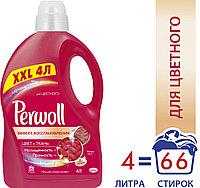 Жидкое средство для стирки Perwoll Гель Эффект восстановления, для цветного белья, 4 л