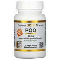 California Gold Nutrition, пирролохинолинхинон, 20 мг, 30 растительных капсул