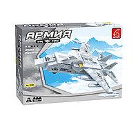 Игровой конструктор Ausini 22402 Армия Военный истребитель 126 деталей Цветная коробка