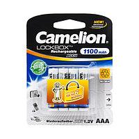 Аккумулятор CAMELION NH-AAA1100LBP4 Lockbox Rechargeable AAA 1.2V 1100 mAh 4 шт. Блистер