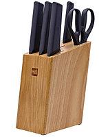 Набор кухонных ножей Huo Hou Fire Kitchen Steel Knife Set с подставкой (6 предметов) /  HU0057