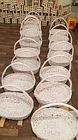 Корзина плетеная для цветов и подарков, разных размеров и цветов