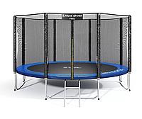 Батут Atlas Sport 374 см - 12ft PRO (усиленные опоры) BLUE
