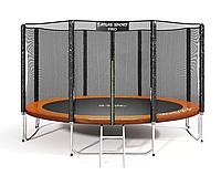 Батут Atlas Sport 374 см - 12ft PRO (усиленные опоры) ORANGE
