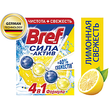 Чистящее средство для унитаза Bref Сила-Актив Лимонная Свежесть 50г