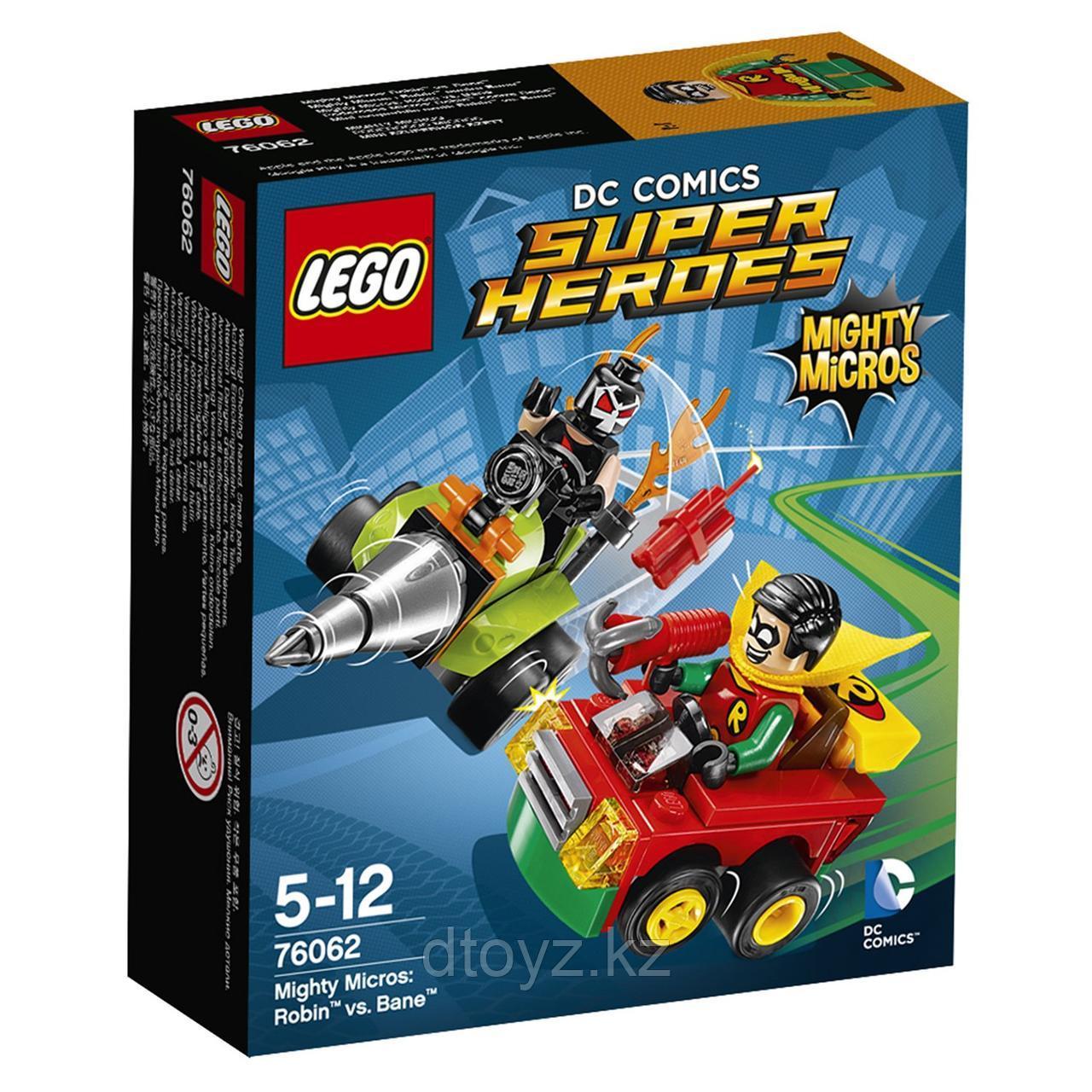Lego DC Comics Super Heroes Робин против Бэйна (76062)