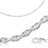 Цепь серебро с родием, без вставок, кордовая 81035110050 размеры - 50