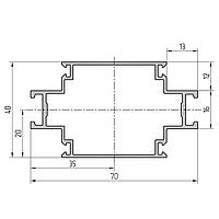 Профиль стойки алюминиевый экструдированный AYPC.111.0103