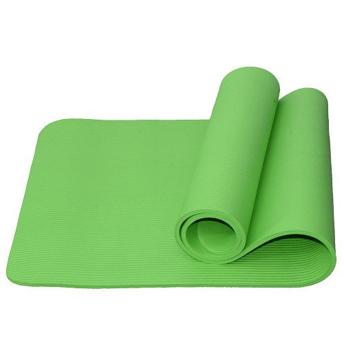 Гимнастический коврик для йоги, фитнеса Atemi AYM05GN 183x61x1,0 см NBR green