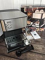 Электрическая кофеварка рожковая, кофемашина DSP Espresso Coffee Maker KA3028 с капучинатором, полуавтомат Под