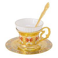 """Набор чайный """"Яблочко Наливное"""" ( тарель, чашка, ложка) - Купить в Казахстане"""
