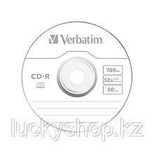 Диск CD-R Verbatim (43437) 700MB 10штук Незаписанный