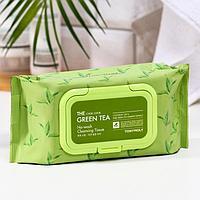 Салфетки для снятия макияжа TONYMOLY с экстрактом зелёного чая, 100 г