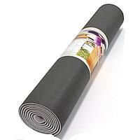 Коврик для йоги и фитнеса (йогамат) текстурный двухслойный 5 мм черная кожа с белой прослойкой
