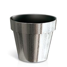 Горшок Cube Chrome DGC110SF   Prosperplast(Польша), Серебро шероховатый