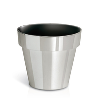 Горшок Cube Chrome DGC140S | Prosperplast(Польша), Серебро глянец