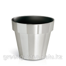Горшок Cube Chrome DGC140S   Prosperplast(Польша), Серебро глянец