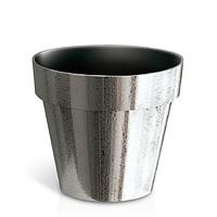 Горшок Cube Chrome DGC140SF | Prosperplast(Польша), Серебро шероховатый