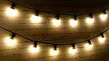 Гирлянда Belt Light LED Econom. Гирлянда 10 метров. Гирлянда для кафе, ретро гирлянда, гирлянда с лампочками, фото 5