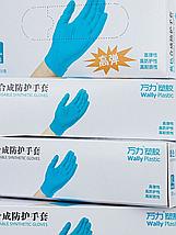 Перчатки одноразовые нитриловые Wally Plastic, синие, 50 пар, размер S, фото 2