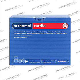 Препарат для сердечно-сосудистой системы Orthomol Cardio капсулы+порошок+таблетки (30 дней)