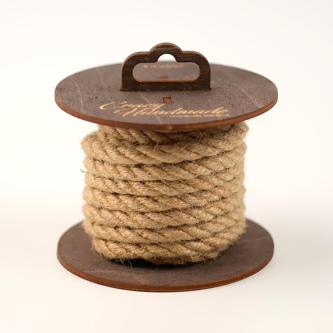 Веревка джутовая для шибари коричневая, 5 м