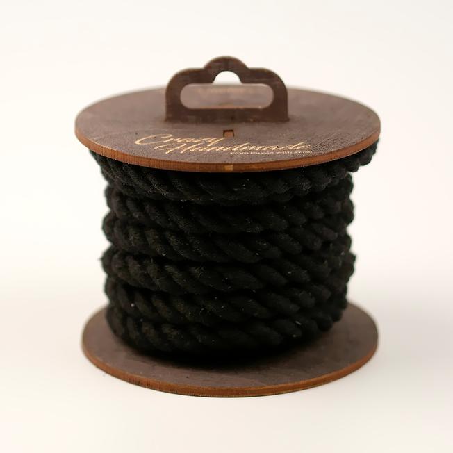 Хлопковая веревка для шибари черная, 5 м