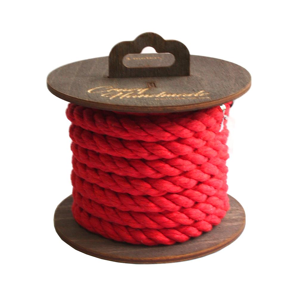 Хлопковая веревка для шибари красная, 5 м