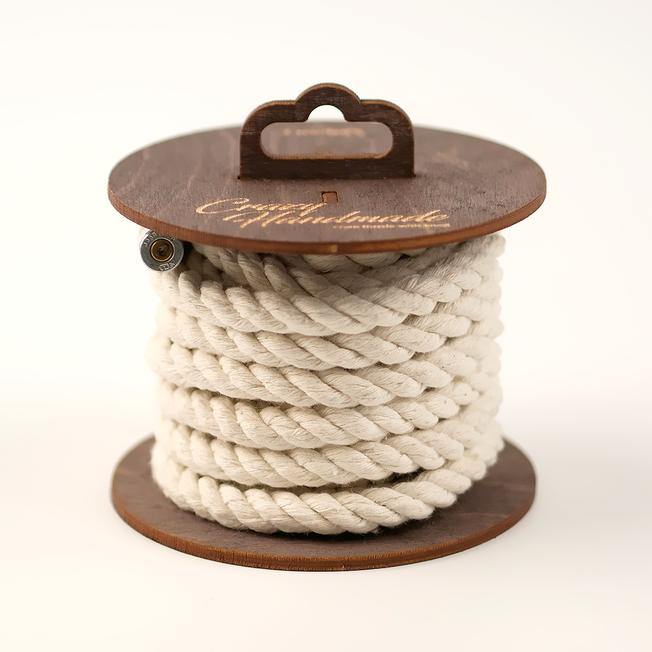 Хлопковая веревка для шибари белая, 5 м
