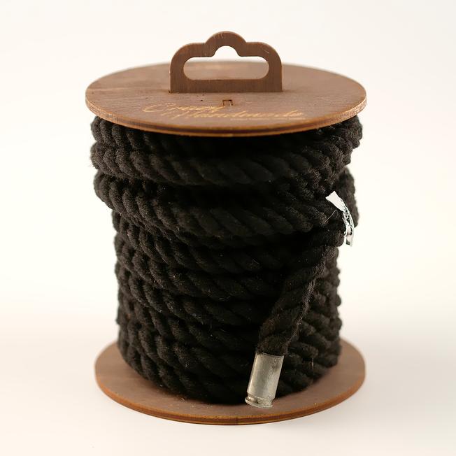 Хлопковая веревка для шибари черная, 10 м
