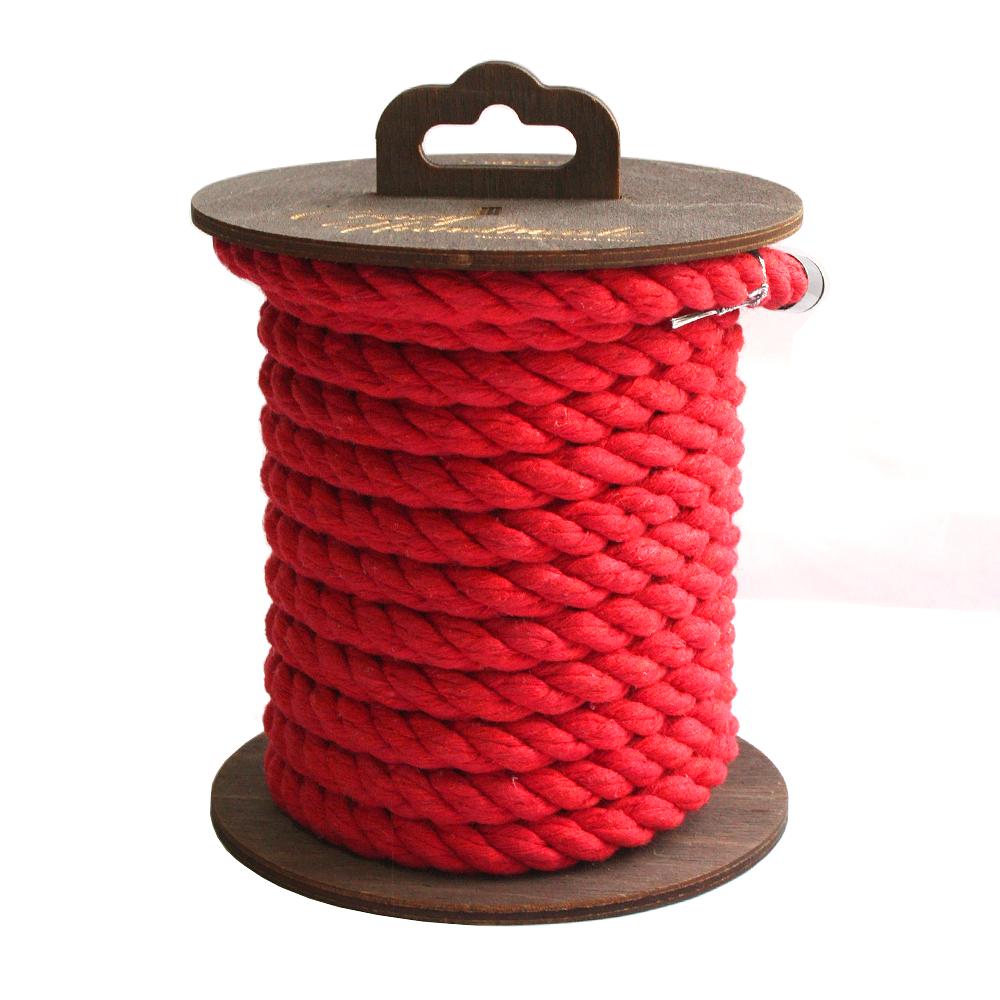 Хлопковая веревка для шибари красная, 10 м