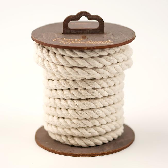 Хлопковая веревка для шибари белая, 10 м