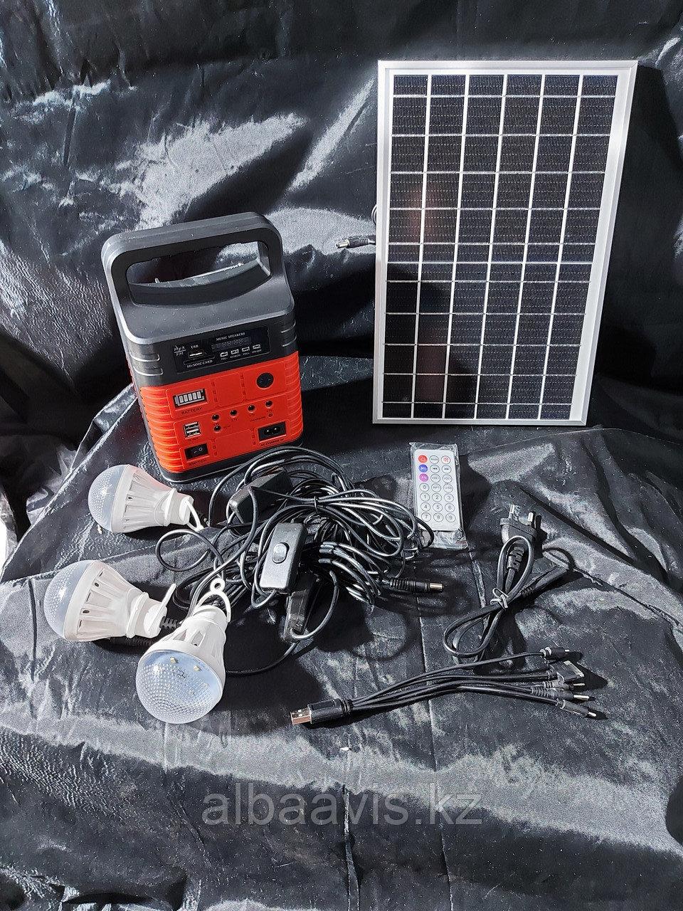Солнечная система освещения . Портативная солнечная станция. Туристическая солнечная станция освещения