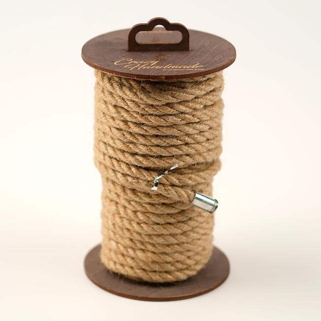 Веревка джутовая для шибари коричневая, 20 м