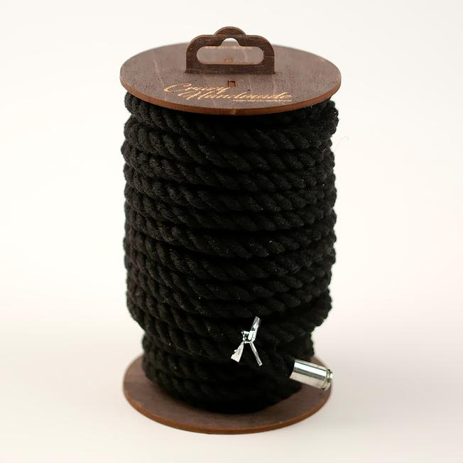 Хлопковая веревка для шибари черная, 20 м