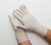 Перчатки латексные припудренные размер L уп. 50 пар БЕЛЫЕ