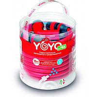 Садовый растягивающийся шланг для полива YOYO 15M с распылителем (поливочный силиконовый чудо шланг) (004)