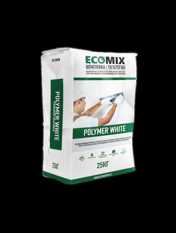 Финишная шпатлёвка Polymer White ECOMIX  25 кг
