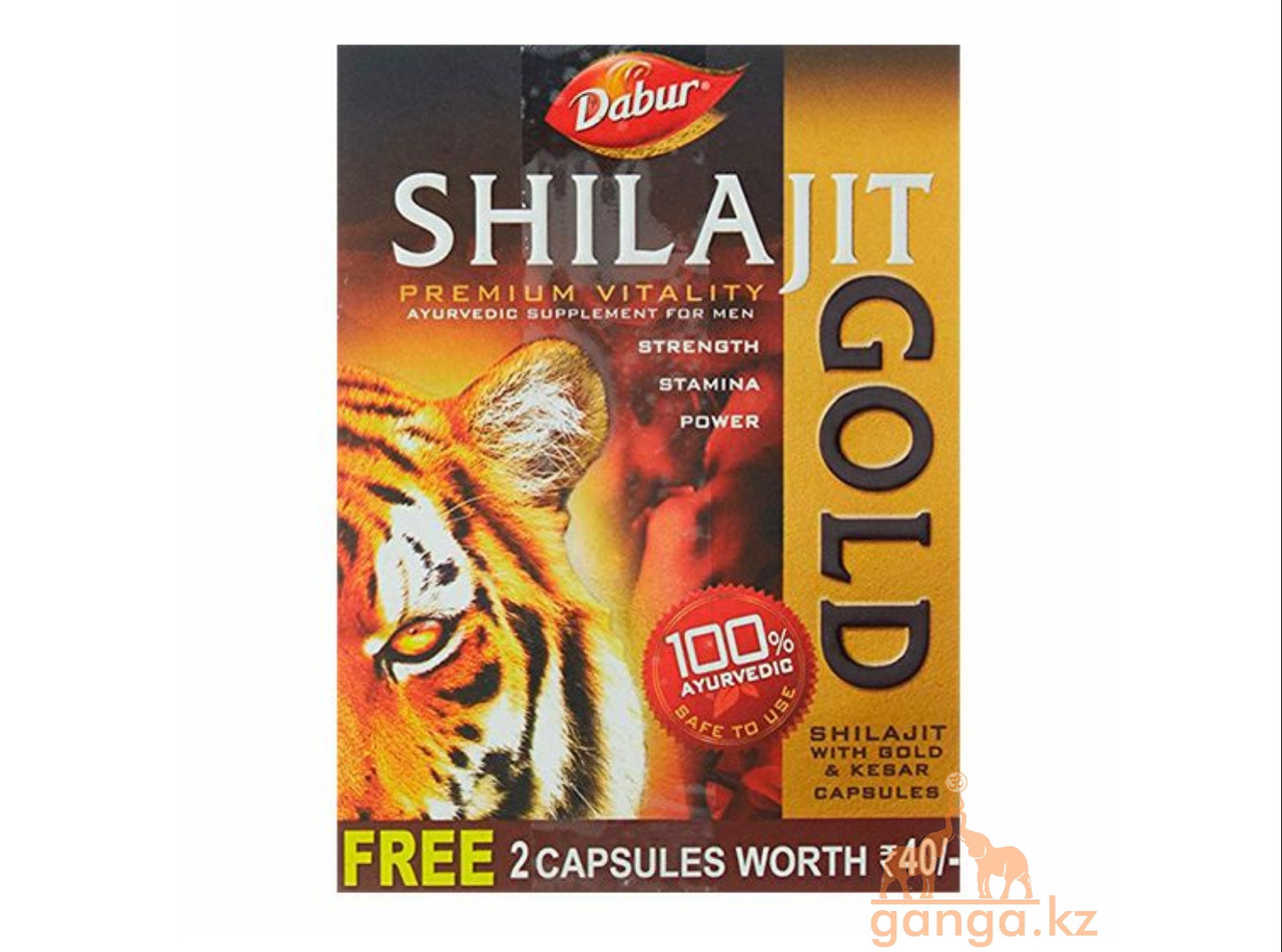 Мумие с Золотом и Шафраном Шиладжит (Shilajit Gold&Kesar DABUR), 12 кап.