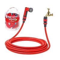 Садовый растягивающийся шланг для полива YOYO 30 с распылителем (поливочный силиконовый чудо шланг) (004)