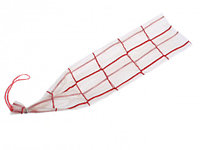 Карман для колбасы, б/ц, плетение квадрат красный