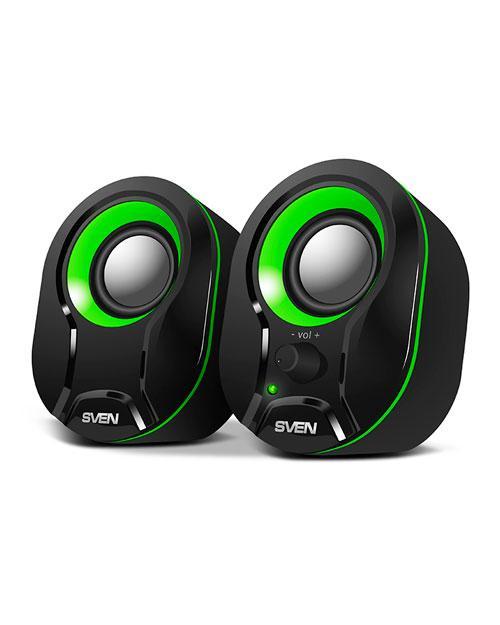 SVEN Колонки 290 черный-зелёный