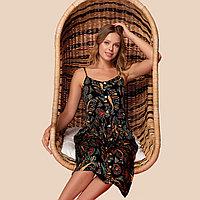 Платье домашнее женское 2XL / 50-52, Черный