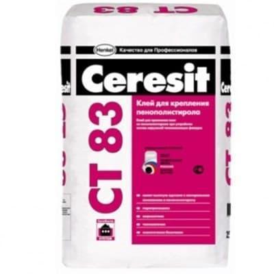 Клей CERESIT для крепления плит из пенополистерола СТ 83 25 кг